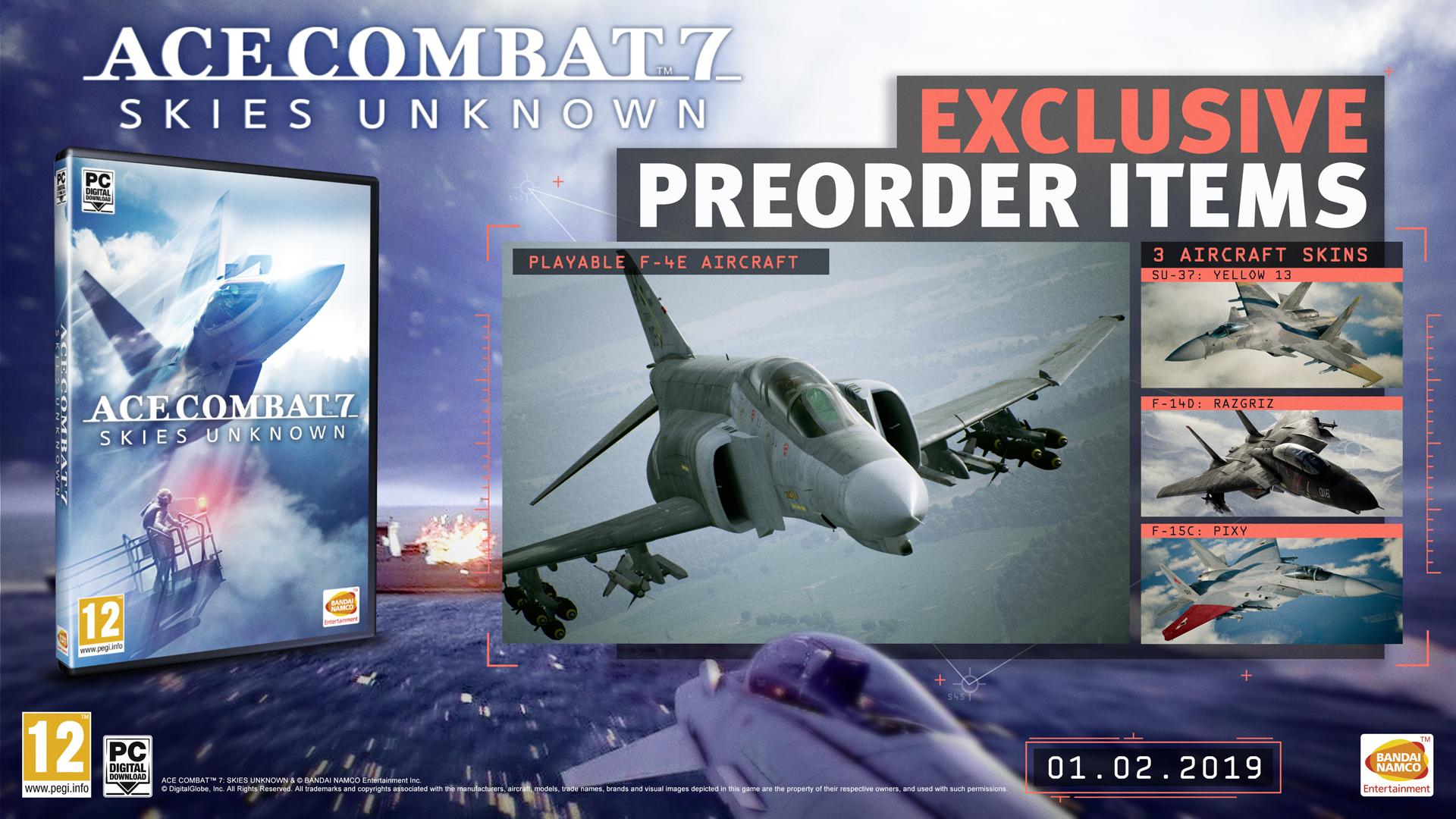 Ace Combat 7: Skies Unknown Pre-Order Bonuses, Season Pass